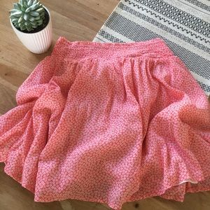 Old Navy Pink & White Flower Skirt